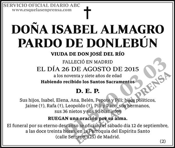 Isabel Almagro Pardo de Donlebún